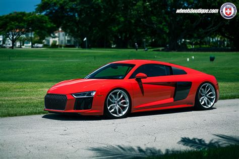 audi, R8, V10, Cars, Red, Hre, Wheels Wallpapers HD ...
