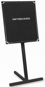 Bi office black frame grooved letter board with stand for Letter board stand