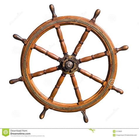 Boat Driving Wheel by Boat Steering Wheel Cutout Stock Image Image 3178591