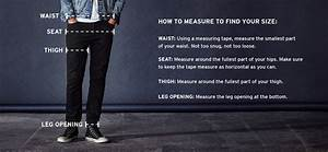 Levis Trousers Size Chart Sizeguide Men 511