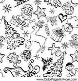 Christmas Coloring Collage Pages Vector Adults Adult Elves Boy Print Christmas8 Coloringpages Colorpagesformom sketch template