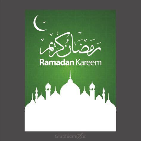 ramadan kareem green poster design  vector file