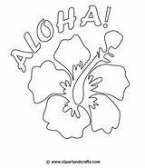 Hawaiian Coloring Flower Pages Flowers Drawing Hawaii Printable Luau Pattern Lei Aloha Hibiscus Tropical Lilo Stitch Adult Colouring Crafts Theme sketch template