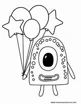 Monster Coloring Monsters Pages Printables Silly Fun Cutest Aren sketch template