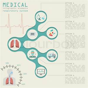 Medical And Healthcare Infographic  Respiratory System