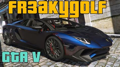 lamborghini aventador sv roadster gta 5 gta v 2016 lamborghini aventador lp750 4 sv roadster mod download youtube