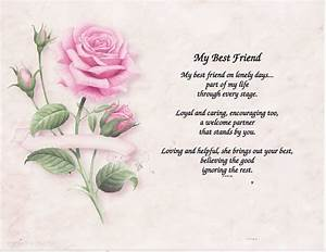 MY BEST FRIEND POEM PERSONALIZED NAME Art PRINT PRAYER eBay