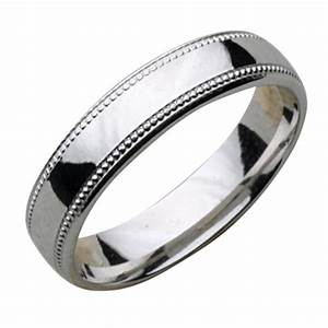 4mm palladium milgrain edge wedding ring band palladium With milgrain edge wedding ring