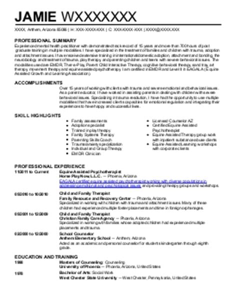 Licensed Professional Counselor Resume Templates by Licensed Professional Counselor Resume Exle Individual