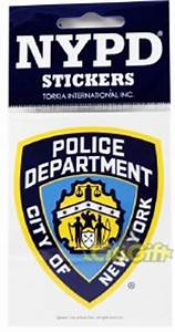 licensed nypd new york police shield badge bumper sticker With kitchen cabinets lowes with police bumper sticker
