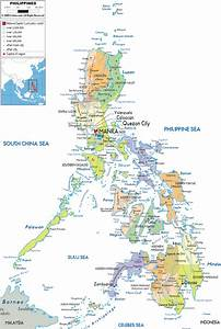 Political Map of Philippines with its Islands, an Asian ...
