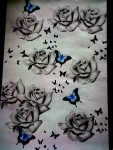 Butterflies and Roses Drawings