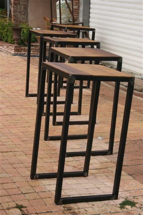 chaise haute de bureau création meuble fabrication sur mesure meuble bois métal