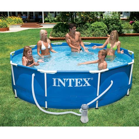 metal frame above ground swimming paddling pool 10 x 30 quot