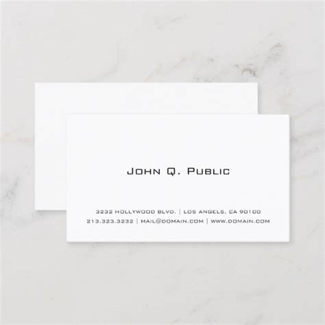 simple black  white business card design