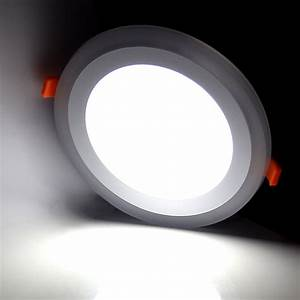Dual color led recessed ceiling flat panel down light