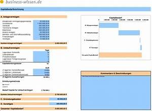 Kapitalbedarf Berechnen : kapitalbedarf berechnen excel tabelle business ~ Themetempest.com Abrechnung
