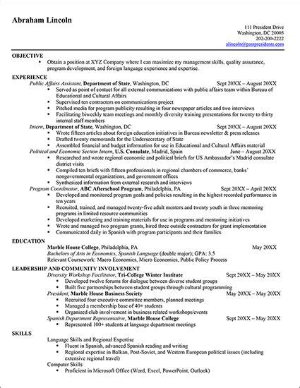 How To Write A Government Resume by Resume Format For Government Resume Format