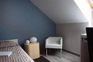 Chambre Gris Et Bleu : peinture chambre bleu et gris 13 ciel coloris naturels ~ Melissatoandfro.com Idées de Décoration
