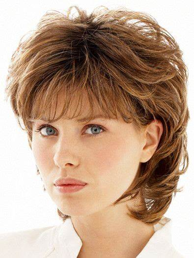 Layered Fine Hairstyle for Over 50 Women 2 Short