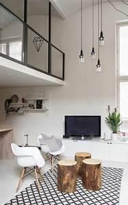 mille et une idees pour le salon style industriel en 44 With idee deco pour maison 13 tapis design pas cher tapis salon contemporain meubles
