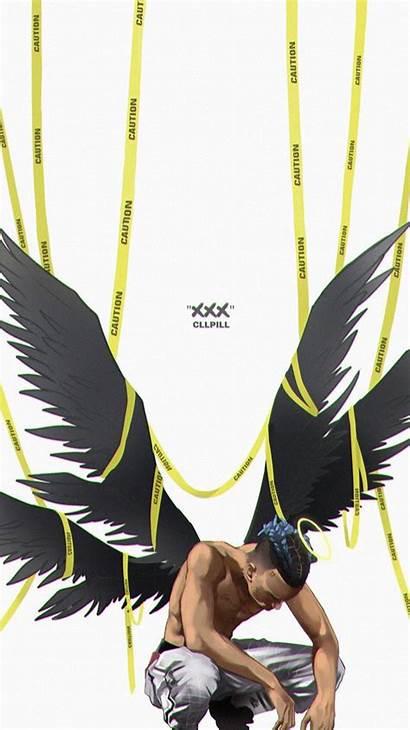 Wallpapers Xxxtentacion Wings Iphone Dope Aesthetic Rapper
