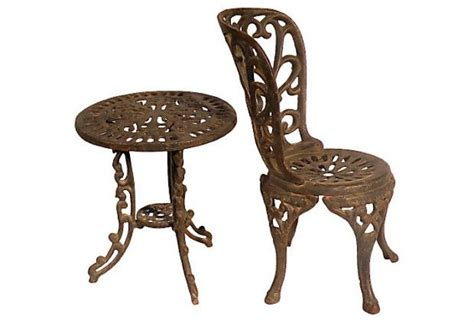 miniature cast iron chair and table set omero home