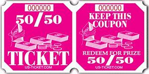 50 50 raffle ticket roll for 50 50 raffle tickets template