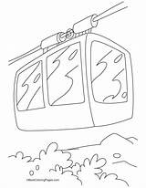 Cable Coloring Pages Tramway Template Sketch sketch template