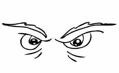 Coloring Eyes Pages Angry Eye Preschool Printable