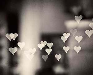 Heart Black and White Photography love bokeh by ...