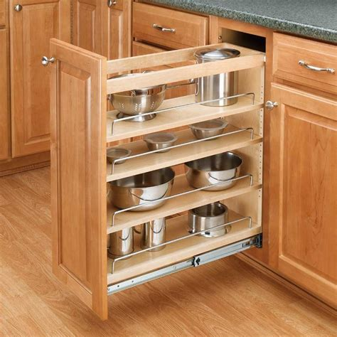 base cabinet pull out rev a shelf 3 tier pull out base organizer 5 quot wood 448 bc