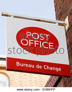 post office bureau de change sign uk stock photo royalty free image 39416035 alamy