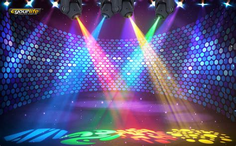 Eyourlife 10w Led Patterns Dj Stage Moving Kitchen Restaurant Floor Plan Installing Tile Wall Paint Color Ideas With White Cabinets Which Flooring Is Best For Commercial Epoxy Decorative Inserts Backsplash Cream Gloss Tiles Blue Countertop