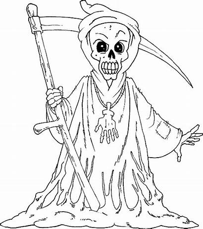 Scary Coloring Pages Reaper