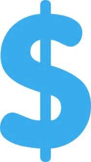 Blue Dollar Sign Clip Art