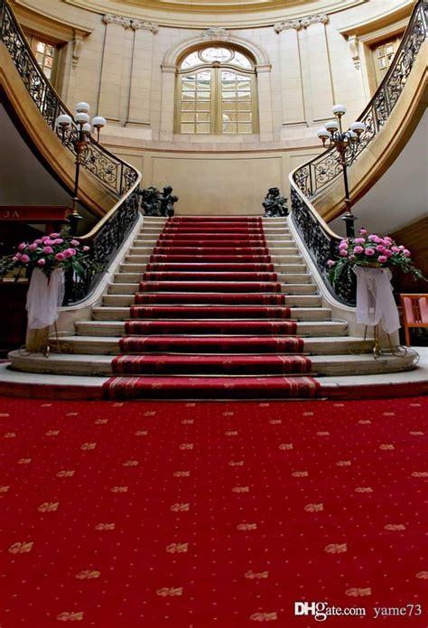 xft vinyl wedding interior red carpet stairs photo