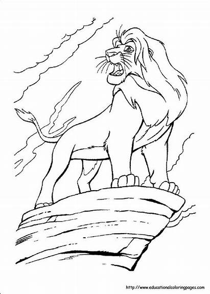 Lion Coloring Pages King Preschool Sheets Printable