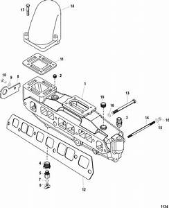 Mercruiser 3 0l Gm 181 I    L4 Intake    Exhaust Manifold Parts