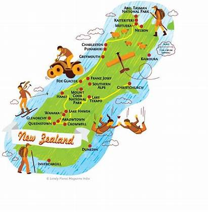 Zealand Island Map South Maps Nz National