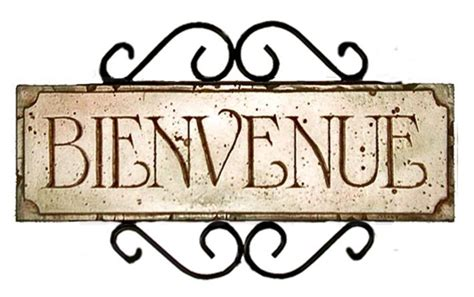 French Welcome Bienvenue Sign   French country wall art ...