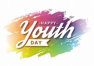 Campaña de banner feliz día de la juventud con fondo ...