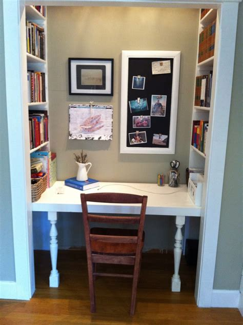 desk built into closet from original pinner my hubby built me this amazing desk