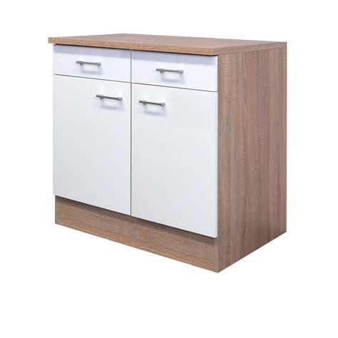 Küchen Unterschrank Schmal by K 252 Chen Unterschrank Rom 2 T 252 Rig 80 Cm Breit Wei 223