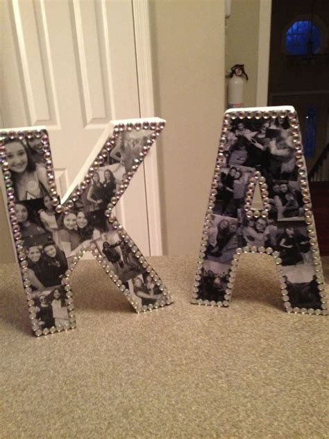 diy bejeweled photo collage letters crafts diy gifts