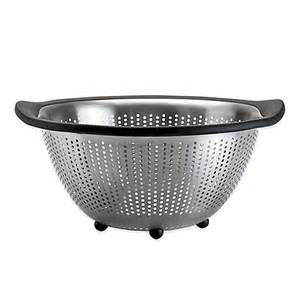 oxo grips 174 stainless steel colander bed bath beyond
