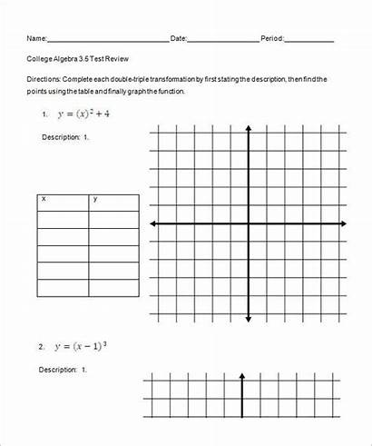 Algebra College Worksheets Printable Worksheet Template Pdf