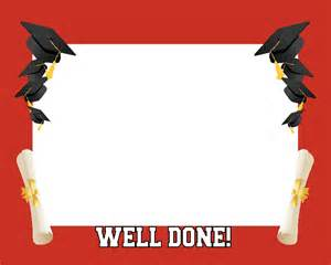 Graduation Borders and Frames Template