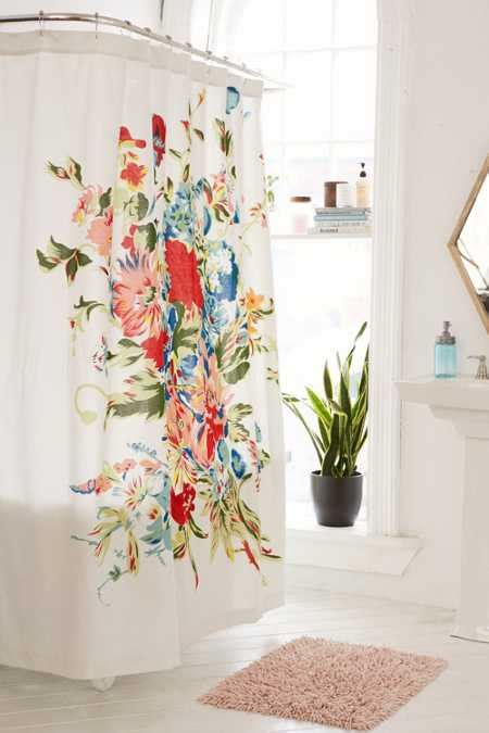 flower shower curtain style shower curtains add stylish texture and color