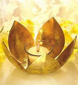 borosil golden lotus tea light by borosil online tea With best brand of paint for kitchen cabinets with hanging tea candle holders